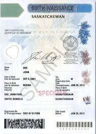 Saskatchewan Birth Certificate Authentication