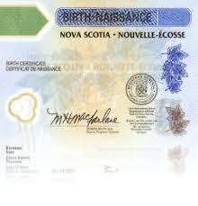 Nova Scotia Birth Certificate Authentication