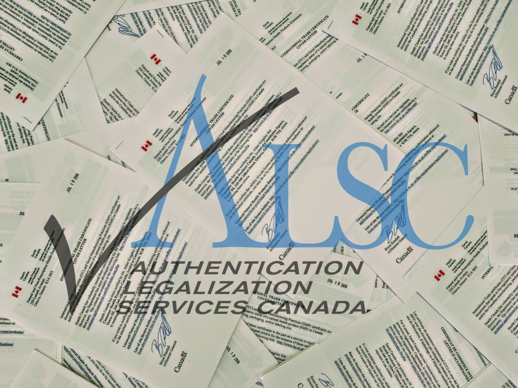 Canada Authentication Legalization Apostle Heath Canada Certificate or Pharmaceutical Product for use internationally