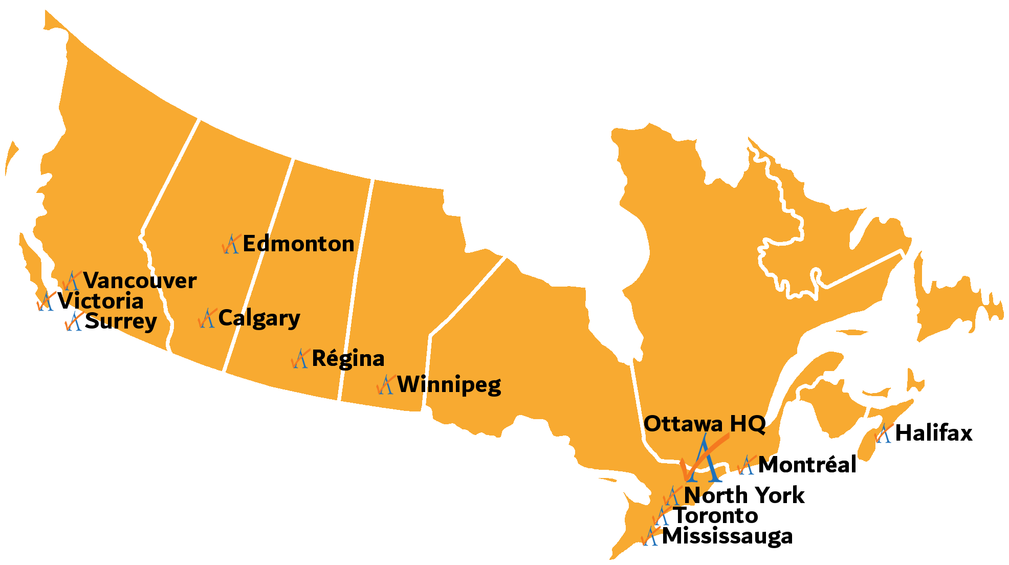 ALSC Canada Locations Map FR